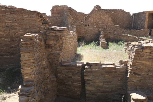 Pueblo Bonito is pictured Sunday, April 14, 2019, in Chaco Culture National Historical Park.
