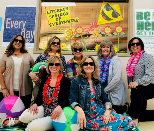 The literacy team members pictured in back from left, are Angela Castillo, Robin Draper, Patsy Neely, (Literacy Coach) Marsha Harrell and Kristen Tucker. In front from left are Nicole Beach and RaNay Johnston.