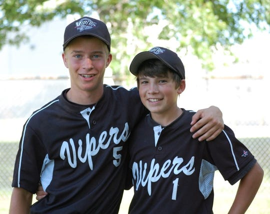Jesse Lindlbauer (right), with his good friend Johnny Etienne, was a talented baseball player and standout student before suffering a near-fatal brain injury in 2010.