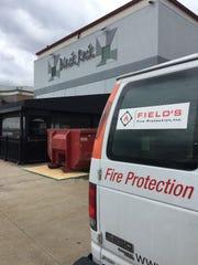 Restoration work companies were at  Black Rock Bar & Grill in Novi Friday, April 26, 2019.