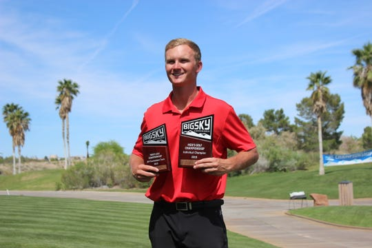 Jake Vincent of Southern Utah University, a former golfer at Palm Desert High School, won the Big Sky Conference individual title in Boulder City, Nev. last weekend.