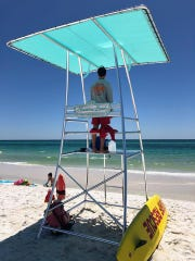 The Navarre Beach Lifeguard program unveiled three sleek new lifeguard towers this past weekend, which officials say are easier to transport to the scenes of rip currents and better for lifeguards' visibility. Two more towers are expected to be placed on the beach by the end of this week.