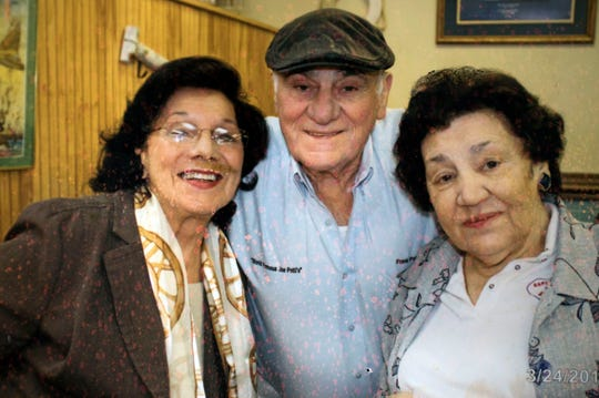 Maria Vann Patti, Frank Patti Sr. and Josie Patti Merritt are pictured together at Captain Joey Patti's Seafood Restaurant. Josie Patti Merritt, the driving force behind the popular downtown eatery, passed away Sunday after a long illness.