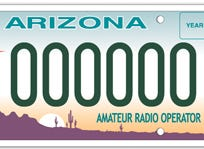 The Arizona amateur radio specialty plate is only available to applicants who have a valid amateur operator license from the Federal Communications Commission.