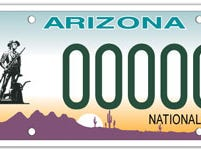 Arizona National Guard specialty license plate