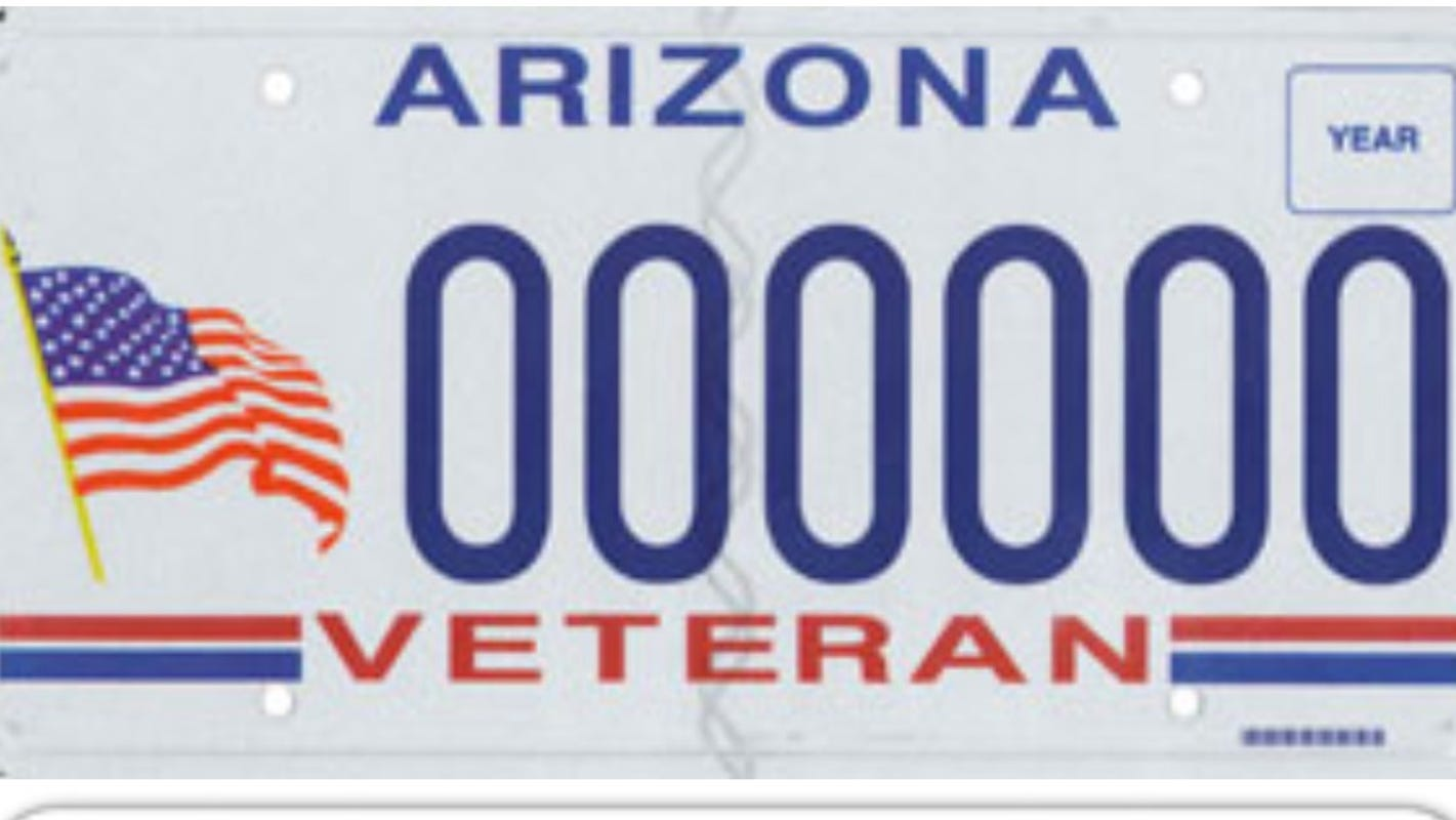 Arizona specialty license plates that are the most and least