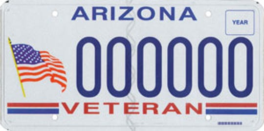 Arizona veteran specialty license plate