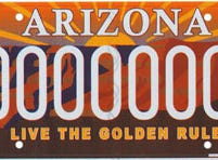 The Arizona golden rule specialty license plate benefits a fund for programs which demonstrate the promotion of the golden rule in schools and communities in Arizona.