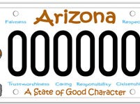 The Arizona Character Education specialty plate fee goes to a fund for character education programs.
