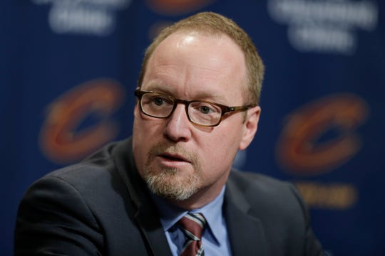 New New Orleans general manager David Griffin looks to make a notable hire in luring longtime head trainer Aaron Nelson from the Phoenix Suns. (AP Photo/Tony Dejak, File)