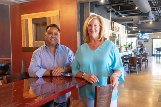 """I wanted an urban feel when you walk in. Not stuffy,"" David Borrego said of Urban Margarita, the Glendale spot he and wife Kimberly Newhart took over in 2018."