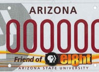 The Arizona Channel 8 PBS specialty plate fee goes to the Arizona Foundation of Public Broadcast Television.
