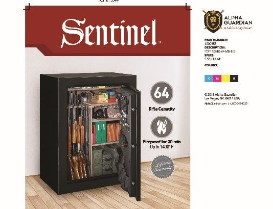 Stack-On Sentinel gun safes: A bolt malfunction causes thesafe to open without the use of a key or combination, allowing access to any firearms stored inside.