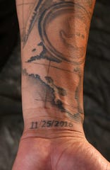 Yoan Lopez's tattoos reflect his journey to MLB and his family.