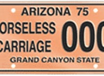The Arizona horseless carriage specialty license plate is available to vehicles been manufactured before 1916.