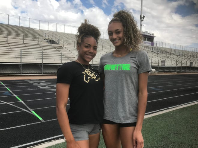 North Canyon running phenoms Jadyn Mays, left, and Dominique Mustin have narrowed their college choices.