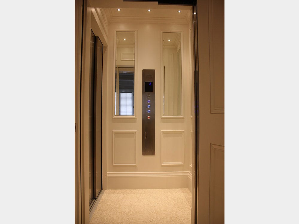 Cambridge Elevating home elevator:  The landing door on the elevators can unlock without the elevator present, leaving a gaping drop for anyone who unwittingly steps into their home elevator.