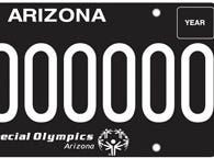 Arizona Special Olympics specialty license plate