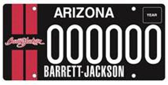 Arizona Barrett-Jackson specialty plate