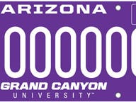 Arizona Grand Canyon University specialty license plate