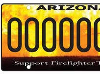 Arizona firefighter safety training specialty license plate
