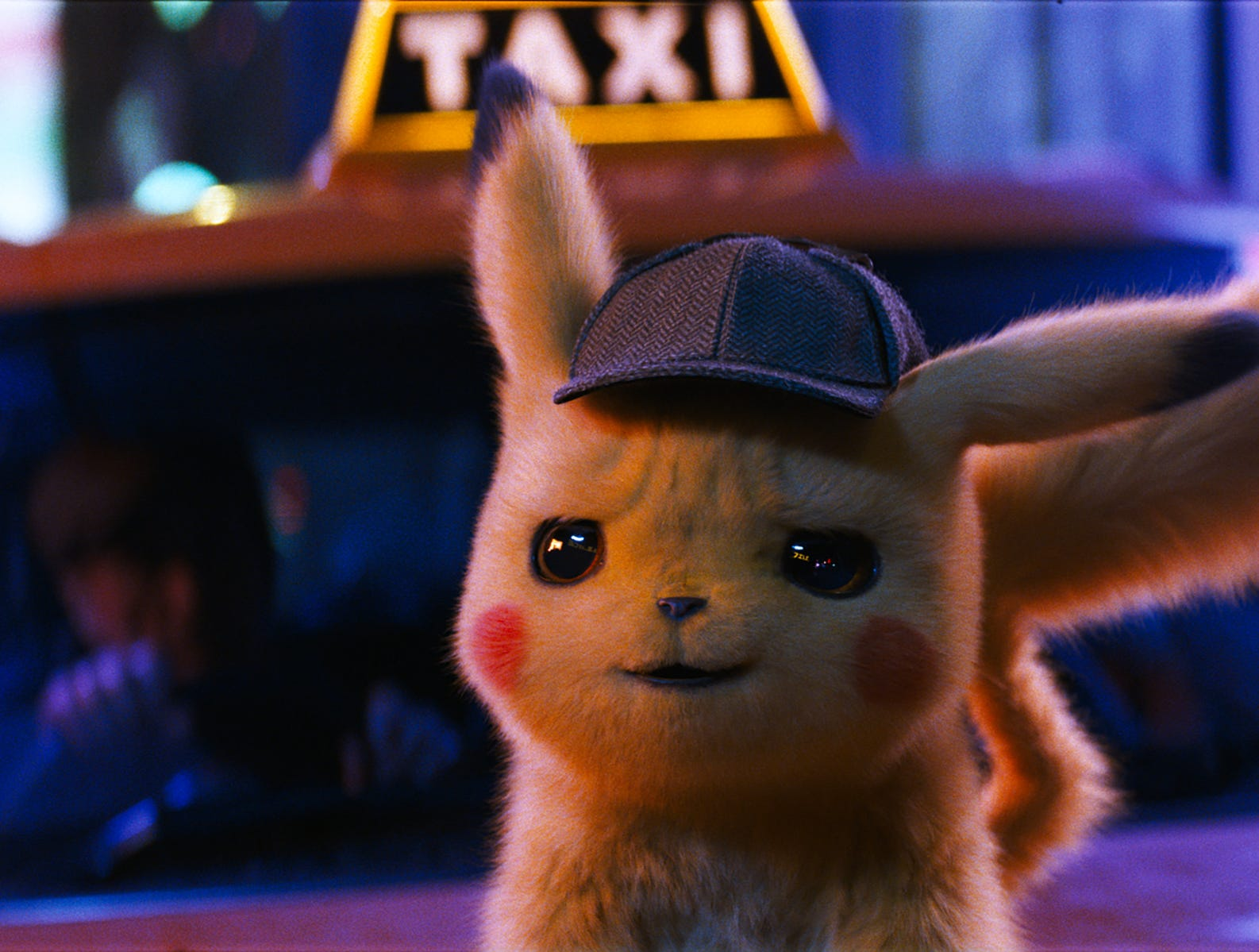"Pikachu (voiced by Ryan Reynolds) in ""Pokemon Detective Pikachu."""