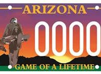 Arizona Southwest PGA specialty license plate