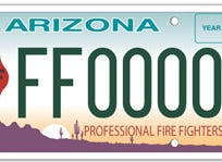 Arizona firefighter specialty license plate
