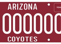 Arizona Coyotes specialty plate