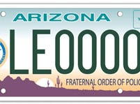 Arizona Fraternal Order of Police specialty plate