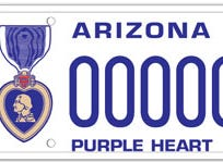 Arizona purple heart specialty license plate