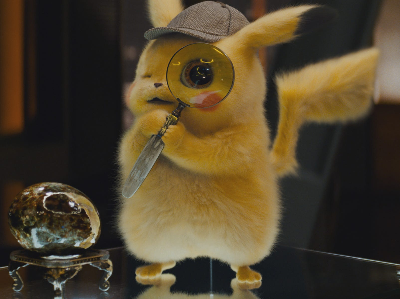 "He's furry, he's addicted to caffeine and he's adorable. Ryan Reynolds voices Pikachu in ""Pokemon Detective Pikachu."""