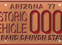 Arizona historic vehicle specialty license plate