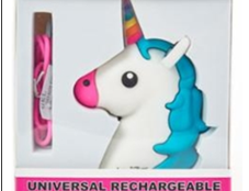 Betsey Johnson universal rechargeable power banks: In various forms, including unicorns with rainbow horns, smiling cacti and pink poop emojis. The power banks can overheat, posing a fire hazard.