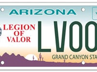 Arizona Legion of Valor specialty license plate