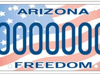 Arizona military support/freedom specialty license plate