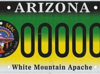 Arizona White Mountain Apache Tribe specialty license plate