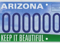 Keep Arizona beautiful specialty license plate