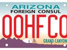 Arizona honorary foreign consul specialty license plate