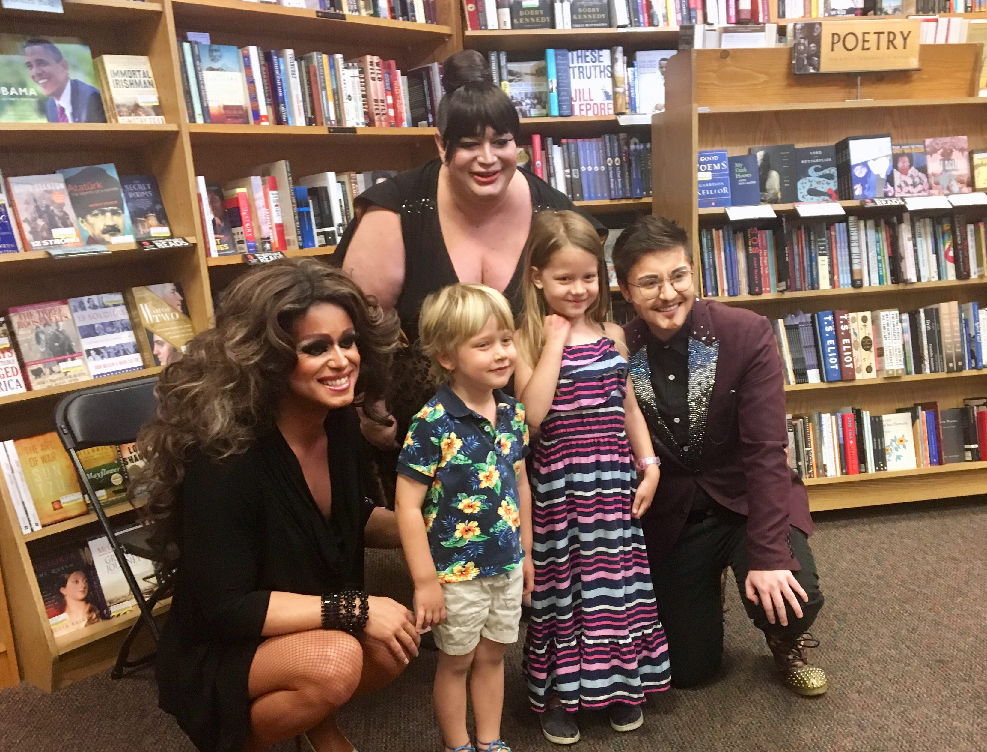 When Molly Crum, her husband Justin and three children attended Drag Queen Storytime in January at Changing Hands Bookstore in Phoenix, 5-year-old Gwen was so taken with drag king Dee Jae Galaxy that she talked about him for weeks afterward. At the store's Tempe location, Gwen and her brother, Seth, 3, got a chance to meet him and drag queens Nevaeh McKenzie and Sophia Sinclair.