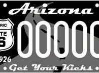 Arizona Route 66 specialty license plate