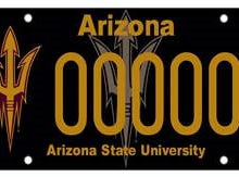 Arizona State University specialty plate