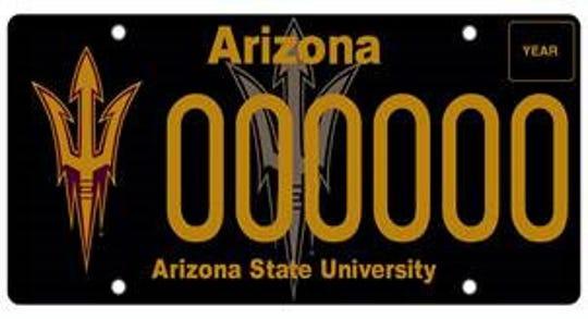 Arizona State University specialty plate