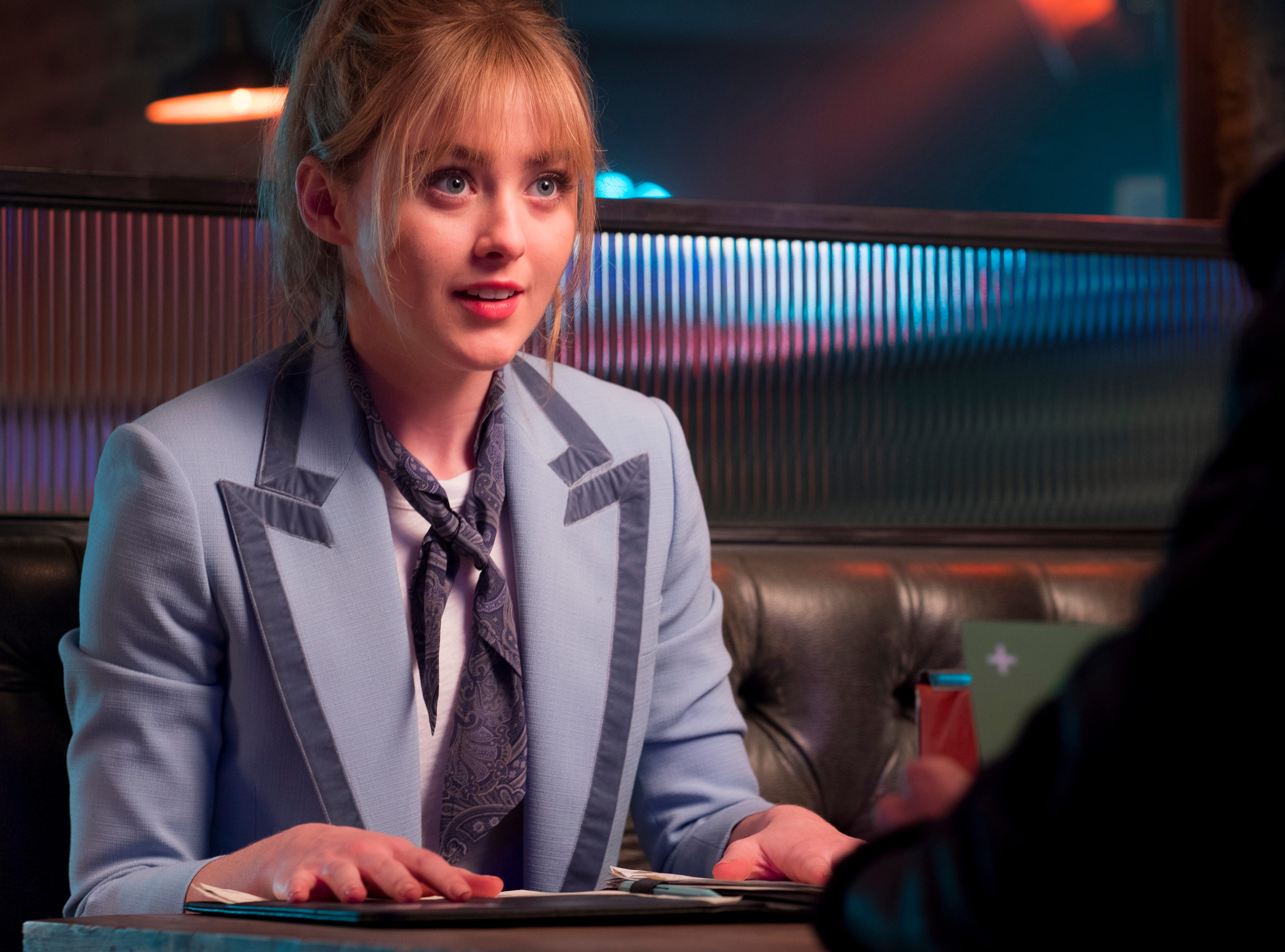 "Lucy Stevens (Kathryn Newton) is a journalist who writes listicles when she really wants to do hard-hitting investigative news in ""Pokemon Detective Pikachu."""