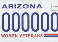 Arizona women veterans specialty license plate