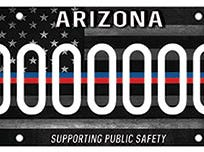 Arizona first responder specialty license plate