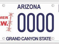 The Arizona former prisoner of war specialty license plate is available only to prisoners of war.