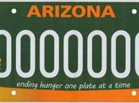 Arizona hunger relief specialty license plate