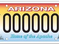 Arizona San Carlos Apache Tribe specialty license plate