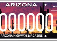 The Arizona Highways Magazine specialty plate supports the magazine.